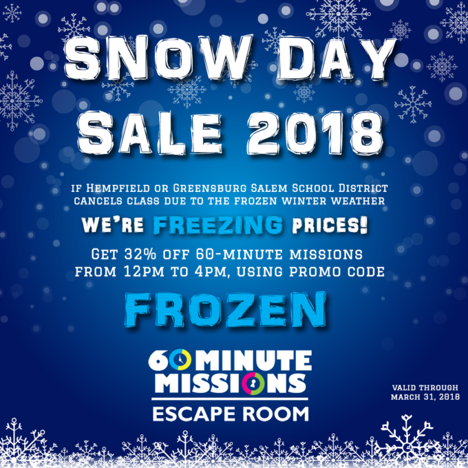 Snow Day Sale of 2018