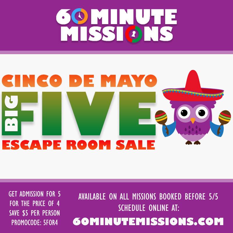 Cinco De Mayo Escape Room Sale