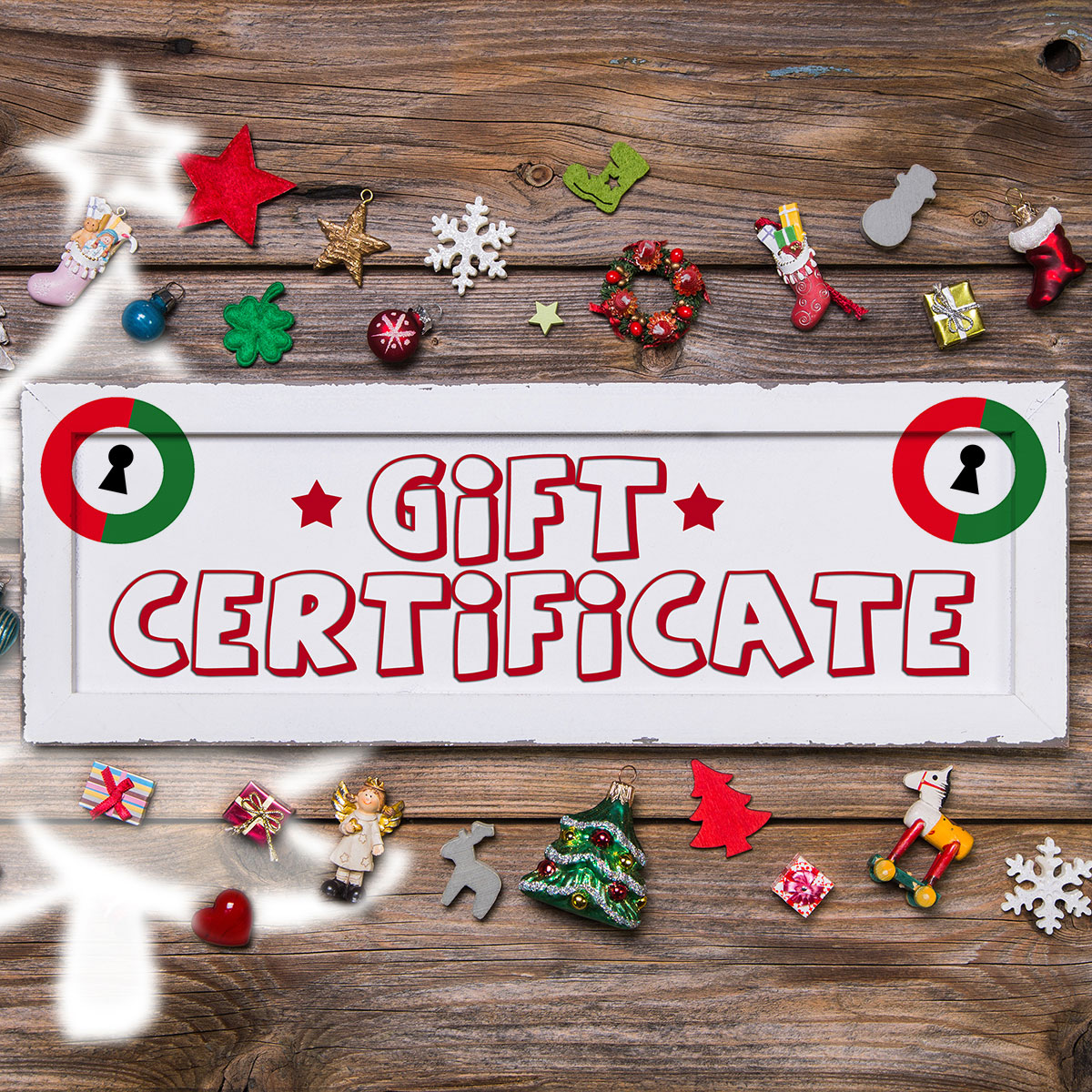 Gift-A-Mission, Escape Room Gift Certificates