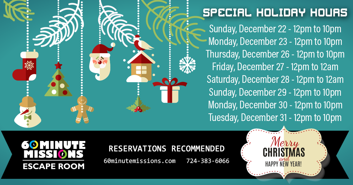 Special 2019 Holiday Hours